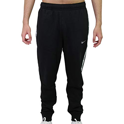 Nike Sportswear Men's Fleece Joggers DC0719-010 Black/Reflective Silv (M)