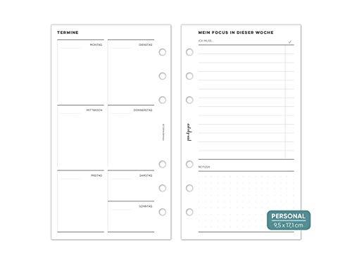 pen & pages® undatierter Kalender Wochenübersicht