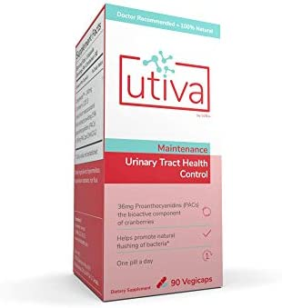 Utiva Cranberry Pills 90 Vegi Capsules 36mg PACs for UTI Prevention 100 Natural Cranberry Supplements product image