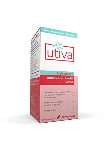 Utiva Cranberry Pills - 90 Vegi Capsules - 36mg Soluble Cranberry PACs - Cranberry Supplements for Promoting a Healthy Urinary Tract, Non-GMO, Vegan and Gluten-Free, Bladder Health