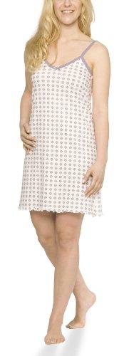 Moonline Damen Nachthemd mit Spaghetti-Trägern, Farbe:Offwhite, Größe:40/42