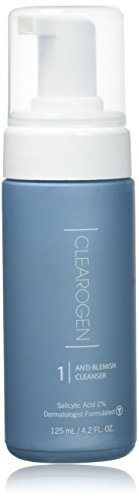 Clearogen Foaming Cleanser for acne and blemishes, Natural Ingredients, Fresh Botanical, Gently...