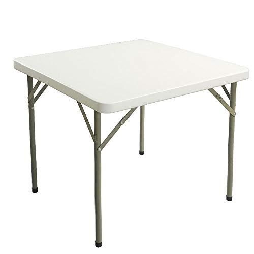 A - Z ZA witte plastic klaptafel voor 4 personen outdoor opvouwbare draagbare tafel voor picknick camping achtertuinen BBQ partij indoor bureau