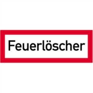Aufkleber Feuerlöscher Folie 10,5 x 29,7cm