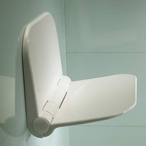 Duschsitz für die Wandmontage, kompaktes, modernes Design durch Roper Rhodes