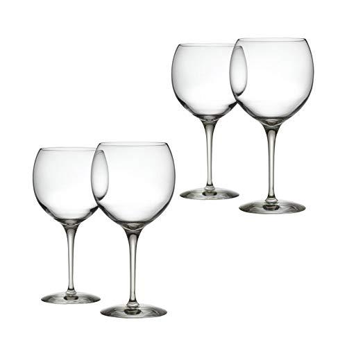 Mami XL - Set di 4 calici da vino rosso, trasparenti, 65 cl