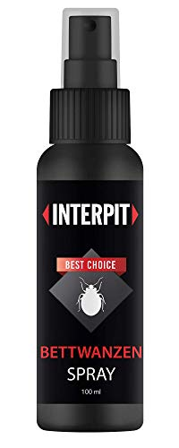 Interpit BETTWANZEN Spray, Hochwirksam bei der Bettwanze - biologische Bekämpfung & Mittel zur Schädlingsbekämpfung für Matratzen und empfindliche Oberflächen - Anti Ungeziefer | 100ml