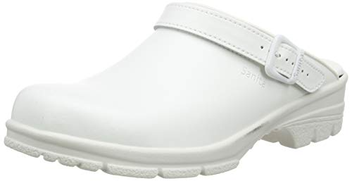 Sanita Workwear Unisex San-Duty Open-SB Clogs, Weiß (White 1), 44 EU