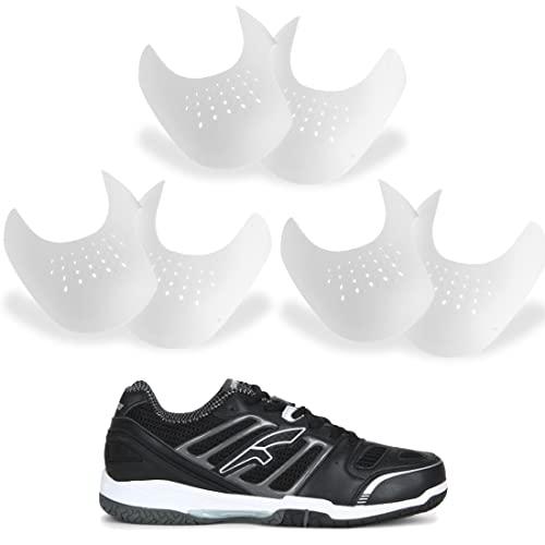 3 Paia Anti-Rughe Protezione per Scudi Toe, Leggere e Traspiranti, Evitare Che Le Scarpe Sneaker Pieghino La Rientranza, Protezioni Contro Le Pieghe delle Scarpe, Tagliata liberamente
