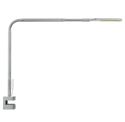 Moll Flexlight Schreibtischleuchte, Silber, 7 x 62 x 42 cm