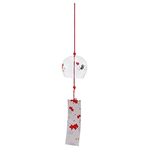 PRETYZOOM Japanische Windspielglas Wind Furin Glocke für Indoor Outdoor Patio Garten Haus Hängen Dekorationen Ornamente (Bubble Fish)