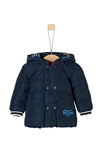 s.Oliver RED LABEL Unisex - Baby Winterjacke mit Streifenbündchen navy 74
