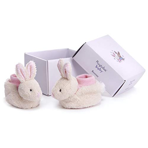 Ragtales RT900 Fifi Rabbit Collection Baby Booties Soft Shoes, White