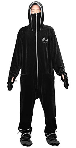Bauhutte(バウヒュッテ) ゲーミング着る毛布 ダメ着4G ストレッチ生地 ブラック XLサイズ HFD-4G-XL-BK