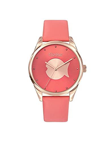 Reloj Clio Blue de piel para mujer, color rosa