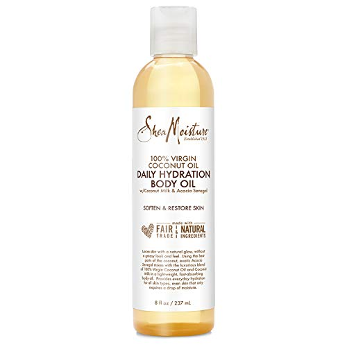 Sheamoisture Daily Hydration Body Oil for Dry Skin Virgin Coconut Oil Paraben Free 8 oz