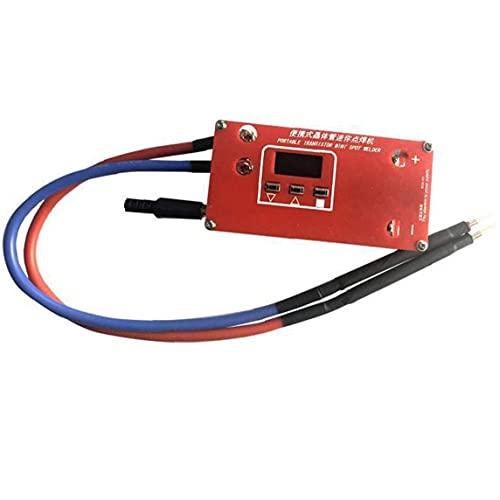 Soldador Mini Máquina de soldadura por puntos Máquina de soldadura de bricolaje ABS RED Portátil 18650 Batería Varias fuentes de alimentación de soldadura