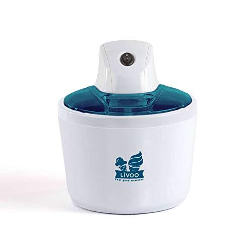 Eismaschine Eiscreme Maschine 1200 ml Speiseeismaschine (Eisbereiter, Speiseeis Bereiter, Sorbet, Frozen Joghurt, Weiß)
