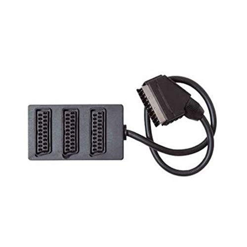 Scart-Verteiler 3-Fach vollverschaltet Kabelverschalter 0,5m