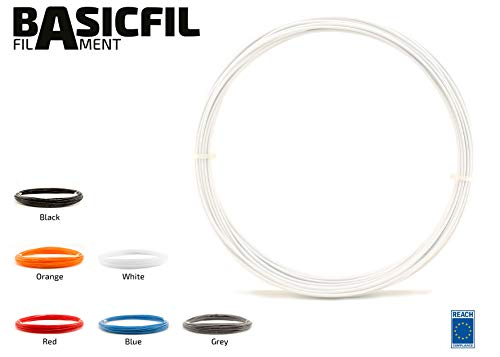 basicfil basicfil de PLA de Pen lápiz de White Pen Impresora 3d filamento para FDM, color blanco