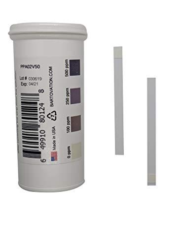 Bartovation analytical indikatorstreifen peressigsäure 500 ppm (50 streifen) detect