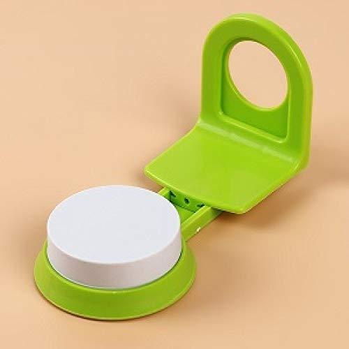 SDWYHLD Küchenwerkzeug Leistungsstarker Saugnapfhaken Wandfrei Spurlos Bad Küche Duschgel Shampoo Waschmittel Aufbewahrung Hakenregal Badzubehör, grün
