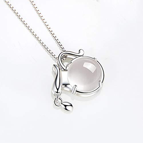 Collar de Inspiración Regalo de cumpleaños collar Aquarius 925 Collar de plata for las mujeres de la constelación del zodiaco 12 Horóscopo Astrología colgante Exquisita Decoración para Mujeres y Niñas