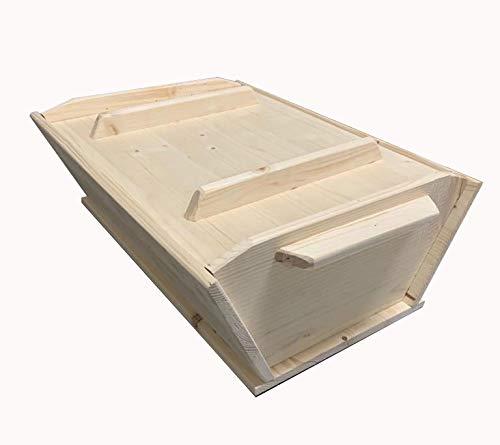 Madia Maddia siciliana in legno lamellare per impasto manuale pizza napoletana contenitore cassetta cassa vaschetta portaimpasto vasca 50x40xh20 con coperchio utilizzabile come asse pasta