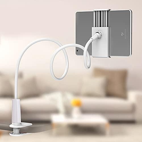 Soapow Universal 360 Soporte de mesa flexible - Cuello de cisne Soporte para teléfono móvil Lazy Holder para teléfonos celulares Tablets Ajustes (blanco)