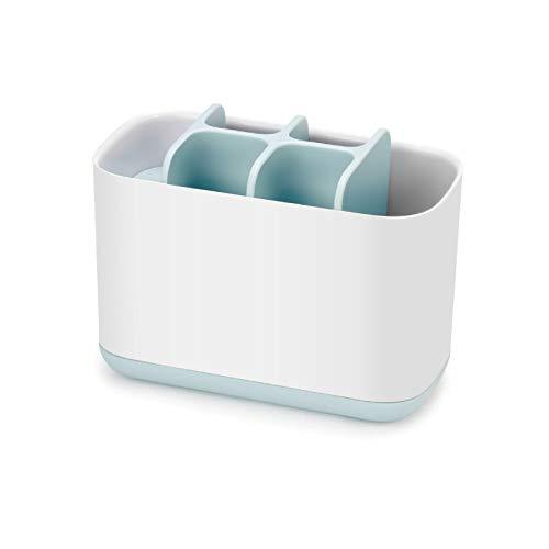 HomeMagic Zahnbürstenhalter Home Magic elektrische Zahnbürste Einstellbarer Zahnpasta-Organizer Badezimmer Caddy, 4 Steckplätze für Zahnbürste Zahnpasta (Blau)
