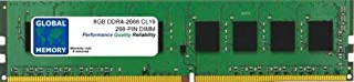 GLOBAL MEMORY 8GB DDR4 2666MHz PC4-21300 288-PIN DIMM Memoria RAM para Ordenadores DE SOBREMESA/Placas Base