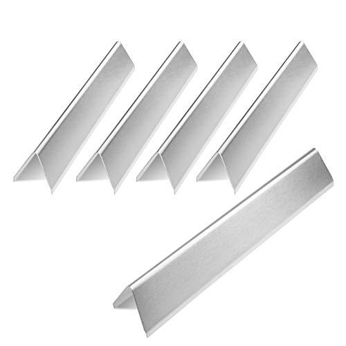 GFTIME 7636 Flavorizer Bars 15,3 Zoll für Weber Spirit 300-Serie, Spirit E310 S310 E320 S320 E330 S330-Gasgrills mit frontseitig montierten Bedienfeldern, ersetzen Weber 7636-Edelstahl-Heizplatten