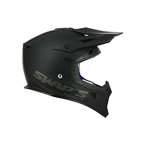swap' S casco moto cross Blur S818NERO OPACO–OMOLOGATO ECE R22–05