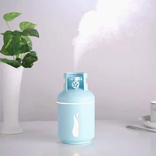 Humidificador USB humidificador portátil de pequeño tamaño mini tanque de gas de coches pulverizador de gran capacidad hidratante del aerosol del coche de Aromatherapy Difusor Aroma ( Color : Blue )