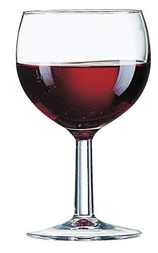 Arcoroc ARC 11937 Ballon Rotweinkelch, Weinglas, 250ml, Glas, transparent, 12 Stück
