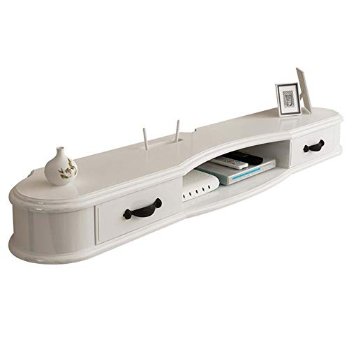 Rack de unidad, rack flotante, armario de TV montado en la pared, consola de TV, rack de almacenamiento de entretenimiento multimedia en el hogar, decodificador de DVD, decodificador de TV sateli