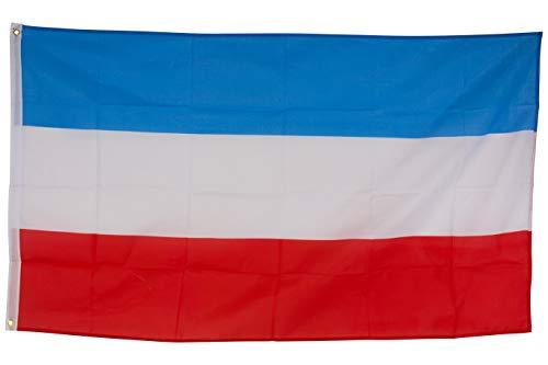 SCAMODA Bundes- und Länderflagge aus wetterfestem Material mit Metallösen (Luxemburg) 150x90cm