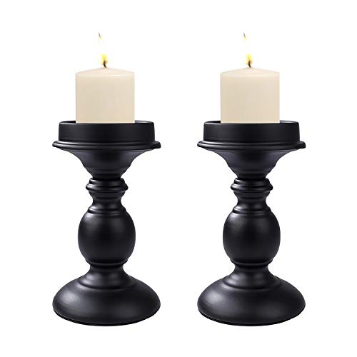 MaoXinTek Candle Holder Pillar Candlestick Cylindrical 2PCS Retro Iron Table Ornament Decorative for Wedding, Festival, Candlelight Dinner, Light Home Decor, Housewarming Gift