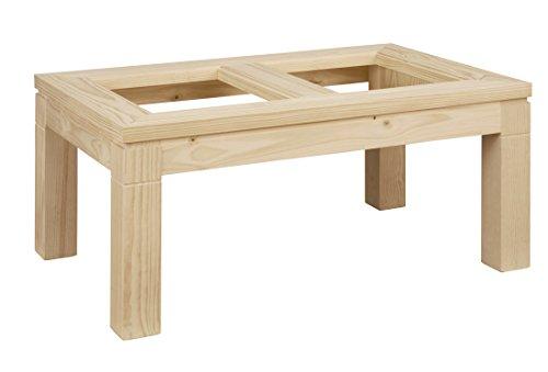 ojemar international Table Basse Tokyo t. Verre 110 x 70 cm. (Pieds Amovibles.