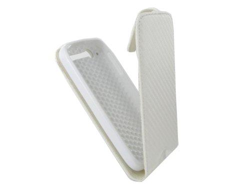 Colorfone - Custodia Flip in Neoprene per Alcatel OT-997, Colore: Bianco