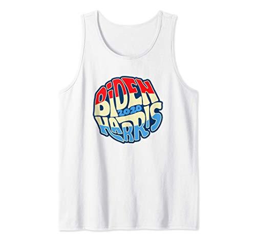 Biden Harris 2020 Hippie Sixties Typography Groovy Graphic Camiseta sin Mangas