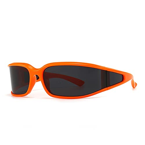 Gafas de Sol Punk Retro Mujeres de una Pieza Gafas Gafas Steampunk Vintage Sunglass Hombres Retro Gafas de Lujo (Color : 3, Size : F)