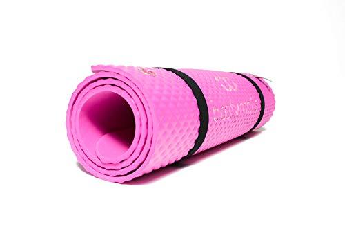 Bootymats - Colchoneta Fitness Multifunción para Todo Tipo de Entrenamiento: Fitness, Pilates, Abdominales, Estiramientos. Medidas: 160 x 60 cm. Grosor: 9 mm. Flamingo