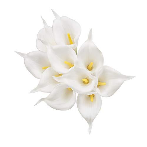 Hunpta @ 10 Stück Künstliche Calla Lilie Blumen, Kunstblumen Blumenarrangement für Brauthochzeit, Haus, Partei, Büro, DIY Blumengestecke