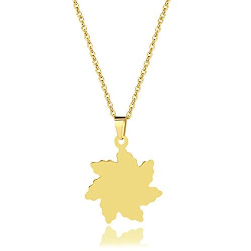 YQMR Colgante Collar para Mujer,Elegante Collar De Mujer Grabado De Moda Alto Polaco Vórtice Geometría Colgante De Oro Joyería Mamá Cumpleaños Amistad Familia