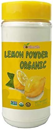 Soulmate Organic Lemon Juice Powder 100 Meyer Lemon 8 82 Oz Large Shaker All Natural No Additives product image