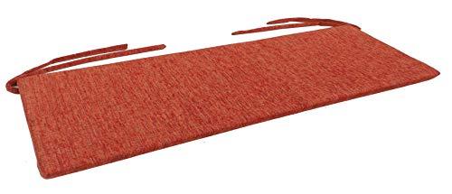 BFK Möbel Sitzkissen Bankkissen Bankauflage Sitzauflage 70 x 45 cm (Terrakotta)