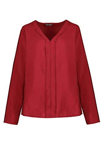 GINA LAURA Damen Bluse dunkel rot 42 782310540-42