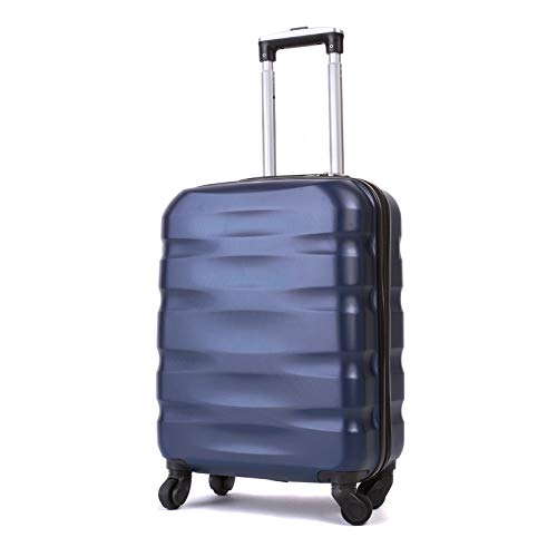 55x40x20cm Lightweight Ryanair Maximum Size Carry On Hand Cabin Luggage Suitcase,Bagaglio a Mano Unisex, (55cm-31.5L) (Blue)