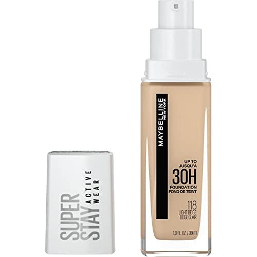 Maybelline New York Super Stay Full Coverage Liquid Foundation Makeup, Light Beige, 1 Fl Oz